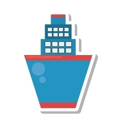 cruise ship transport isolated icon vector image