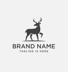 Deer logo design vector