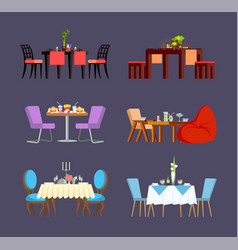 Design serving of table dishes and food vector