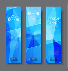 Design vertical banners with abstract blue vector