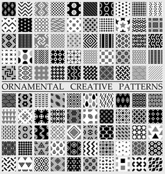 digital black and white geometric vector image