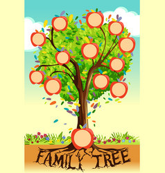 Family tree template vector