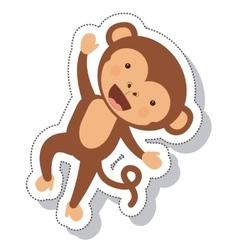 Funny monkey isolated icon vector