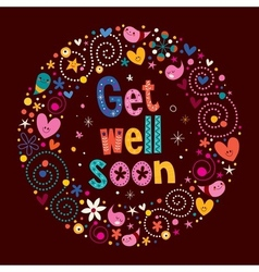 Get well soon vector