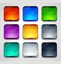 Glossy apps icons set vector image vector image