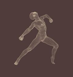 gymnast performs an artistic element rhythmic vector image