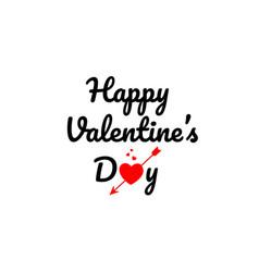 happy valentine day word text typography design vector image