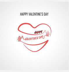 happy valentines day typographical design vector image vector image