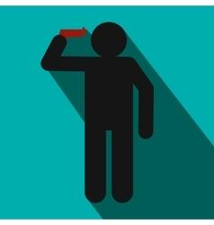 Headshot icon flat style vector image