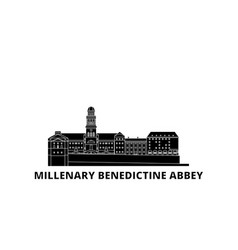 hungary millenary benedictine abbey flat travel vector image