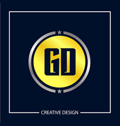 initial letter gd logo template design vector image