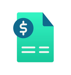 Invoice document accounting single isolated icon vector