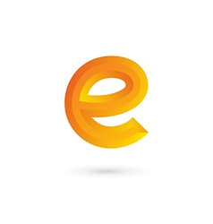 Letter E logo icon design template elements vector image