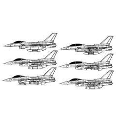 Lockheed martin f-16 vector