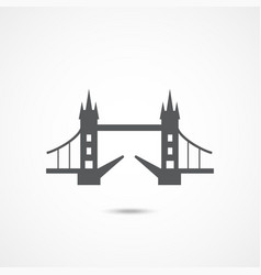 london tower bridge icon vector image
