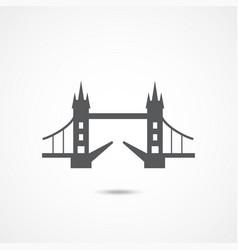 London tower bridge icon vector