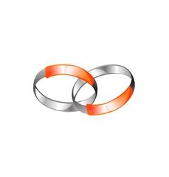 Metallic Rings Connection Logo vector