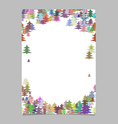 Modern colorful christmas design stationery vector