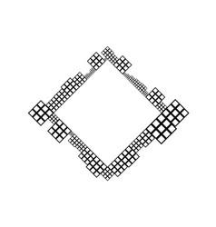Modern geometrical monochrome abstract diagonal vector