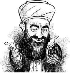Muslim hodja vector