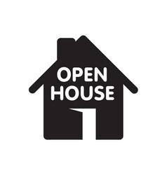 Open house icon vector