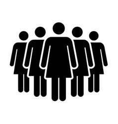 People icon group of women team symbol for vector