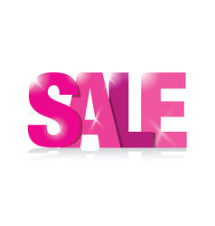 Pink sales sign vector