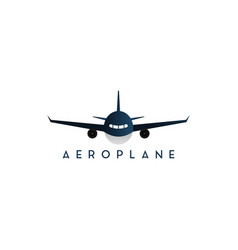 plane front side graphic design template vector image