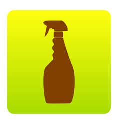 plastic bottle for cleaning brown icon at vector image