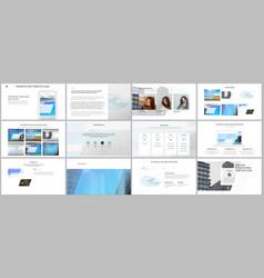 Presentation design templates multipurpose vector