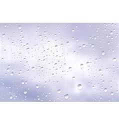 Raindrops Trough Window vector image