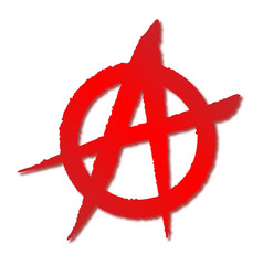 Red anarchy symbol vector