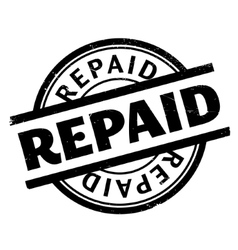 Repaid rubber stamp vector image