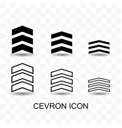set of cevron icon simple flat style vector image