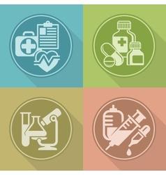 Set of medicines symbols on vector image