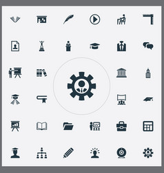 Set of simple speaker icons vector