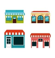 Shopping center design vector