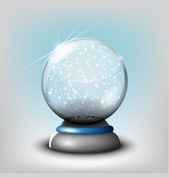 Snow glass transparent ball on a vector