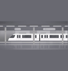 subway underground platform with modern train vector image