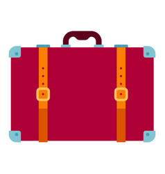 travel suitcase icon flat isolated vector image