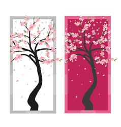 Tree sakura vector