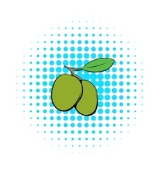 Two olives icon comics style vector image