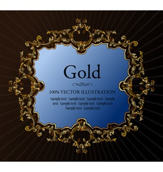 vector vintage royal retro frame ornament gold vector image