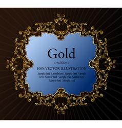 vintage royal retro frame ornament gold vector image