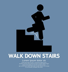 Walk Down Stairs Symbol vector image