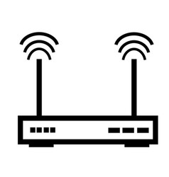 wifi router icon vector image