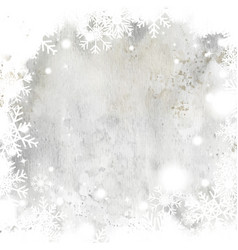 winter christmas card background with gray vector image