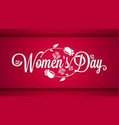 Women Day Vintage Lettering Banner Background vector image