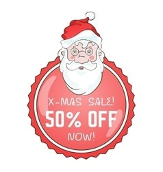Xmas sale tag label vector