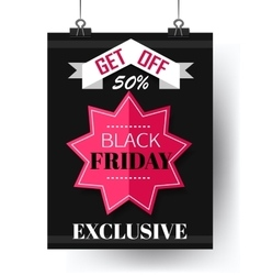 Black Friday Super Sale flyer vector image vector image